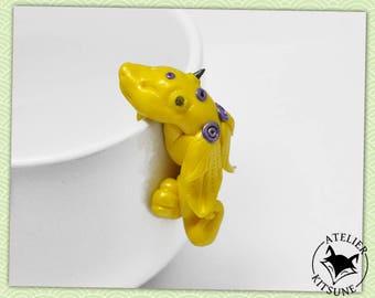 Dragothe - Yellow Dragon tea bag clip