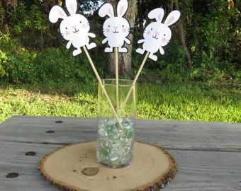 Set of 3 - Easter Bunny Table Decorations