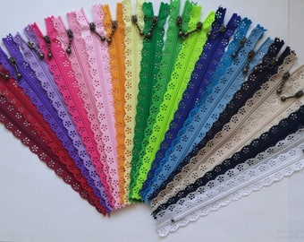 Zipper lace 20cm (21 colors)