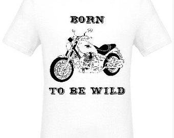 Born to be Wild black on white man