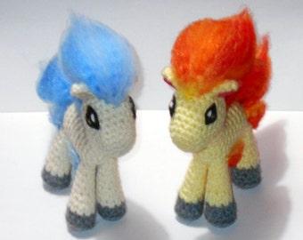 Ponyta Crochet Plush
