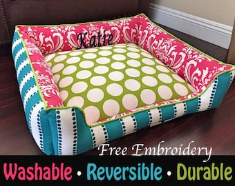 Custom Cat Bed | Washable Cat Bedding | Cat | Free Personalized Embroidery | Designer cat Bed | Small Cat Bed | Large Cat Bed | Kitten