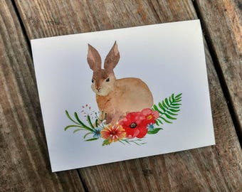 Water Color Bunny Cards - Easter Card - Rabbit - Bunny Note Cards