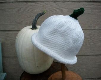 Hat Ghost Pumpkin Adult size Photo Prop halloween punkin hat pumkin hat white