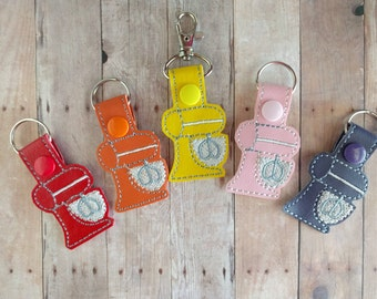 Kitchen Mixer Key Chain, Embroidered Vinyl in Your Choice of 31 Colors with Snap, Chef Gift, Cooking Key Tag, Baker Gift, Made in USA
