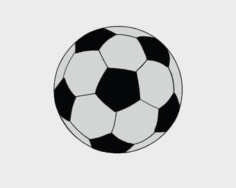 "Soccer Ball Embroidery File in 6 sizes (1"", 2"", 3"", 3.8"", 4"", 5"") - INSTANT DOWNLOAD - Item # 8020"