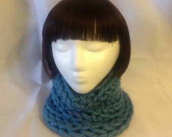 Blue Knit Collar/Neckwarmer