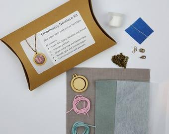 Stickerei Initial Halskette Bastelset DIY