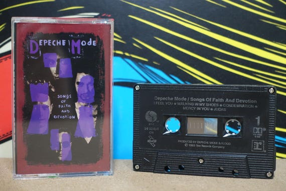 Songs Of Faith And Devotion by Depeche Mode Vintage Cassette Tape