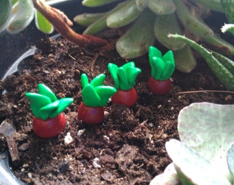 Handmade Fairy Garden Accessories, Set of Four Beets made of Polymer Clay