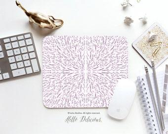 "Mousepad ""Lilac Lace"" by Iveta Abolina Mousepad Mouse Mat Leaves Mouse Pad Office Mousemat Rectangular Mousemat Purple Mousepad Round 06."