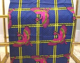 Bird  of Paradise Vintage Fabric