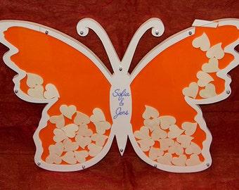 Wedding Tree Einwurfrahmen Guestbook Butterfly