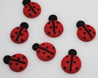 30 Royal Icing Ladybugs for cake decoration cupcake topper birthday party theme Lady Bug Bugs