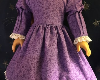 """Colonial dress for 18"""" doll."""