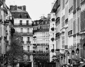 Paris black and white photography, Paris architecture, Paris photography, black and white photo, rooftops, black and white photography