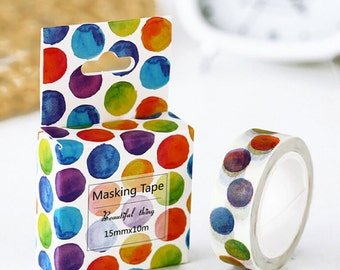 Polka Dots Washi Tape Masking Tape Planner Stickers Scrapbooking Stickers