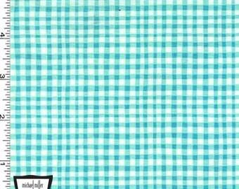 Vichy Aqua jeu de tissus Michael Miller - tissu de coton