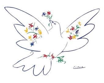 Pablo Picasso Dove Of Peace 22 x 28 poster print