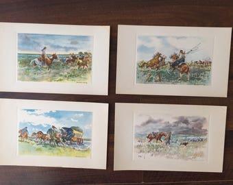 Castells Capurro's 4 postcards