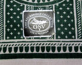 Vintage Tea Towel Green Kitchen Linens Dish Cloth Hand Towels Pineapple Butter Mold Kitchen Decor MWT Vintage Linens