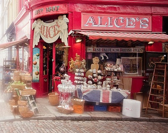 "London art print, London photography, Notting Hill, travel photography - ""Alice's"""