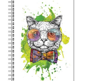 Hipster Cat Notebook