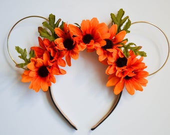 Pumpkin Patch Floral Wire Mouse Ears