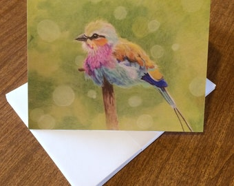 """Set of 10 Note Cards featuring """"Happy"""""""