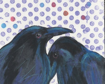Reunion blank raven crow greeting card