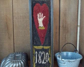 E Pattern Heart & Hand Punch Needle Box
