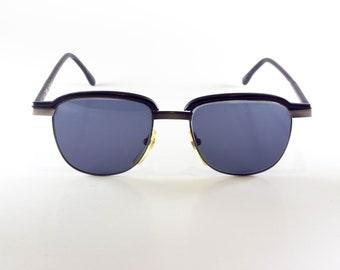 CLUB LA Vintage Sunglasses Unisex Black Metal Clubmaster 1990s CLUS107H-4