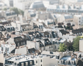 Paris Photography - Paris Rooftops, Architectural Photography, French Travel Home Decor, Large Wall Art