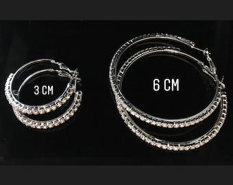 Small hoop earrings, hoop earrings silver, small earrings, small gifts, large hoop earrings, gift for her, gift for women, simple hoops