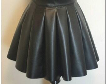 Leather scuba skirt
