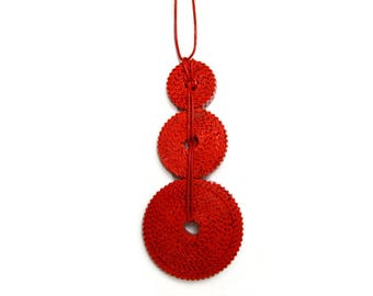 Red Statement Pendant TRICLO - corrugated cardboard