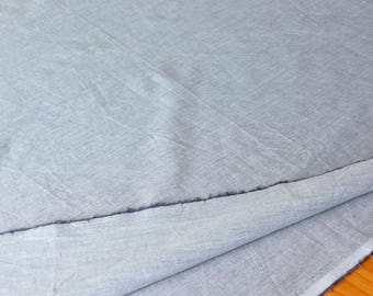 SALE Gray White Cotton Fabric