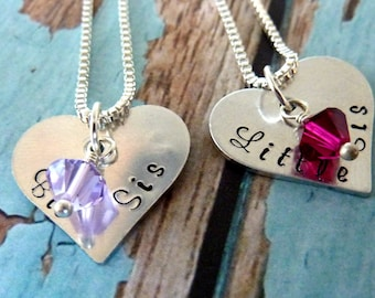 Sister Necklace Big Sister Little Sister Necklace Set Sister Necklace Set Personalized Jewelry Necklace for Sisters