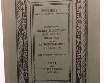 Sotheby's Catalogue of Art Old Master Drawings Gathorne - Hardy Collection 1976