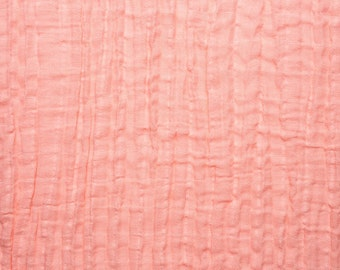 Gauze Swaddle Blanket- Coral Double Gauze - Coral/Pink Muslin Swaddle Baby Blankets