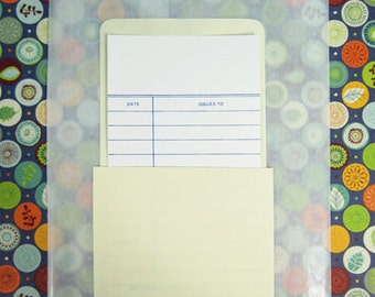 70 Plain Library Card Pockets (No Adhesive) and 70 Library Cards, Journal Cards