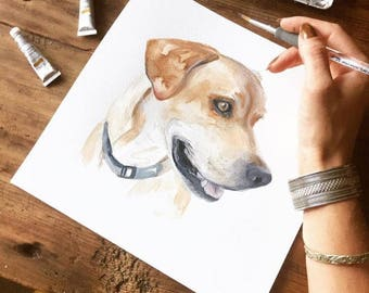 PET PORTRAIT, Dog watercolor, Custom pet portrait, DOG portrait, dog artist, custom dog portrait, painting dog,