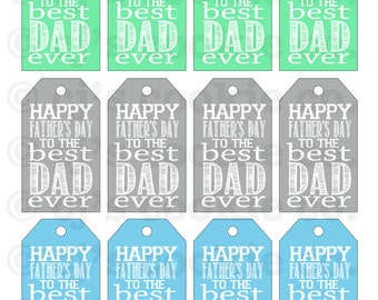 Father's Day Best Dad Ever Tags