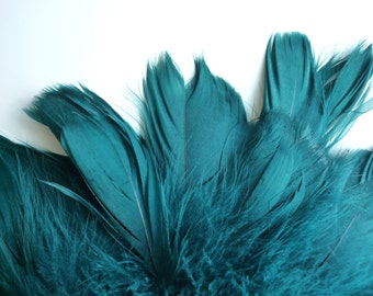 GOOSE COQUILLE FEATHERS / Oasis  Teal Green  / 430 - G