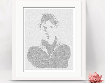 Dr Who Text Art, The Eighth Doctor Who Wall Art, Paul McGann Whovian Gift for Men, Sci Fi Print (AU)
