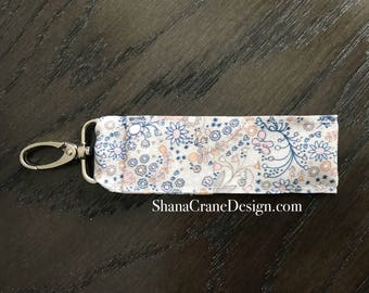 One Clip-On Lip Gloss Holder . Floral Doodle