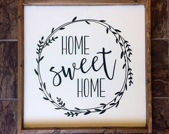 Home Sweet Home Wood Sign - Farmhouse Living - Home Decor - Joanna Gaines - Rustic Decor
