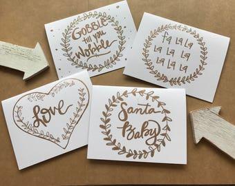 Holiday Cards: handmade