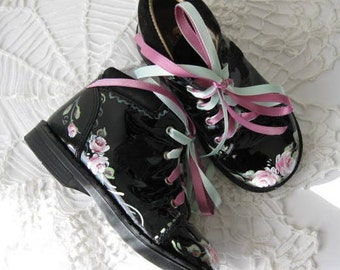 Childs Shoes, Black Patent Shoes 18 to 24 months upscaled, Toddler Shoes, Childrens Dress Shoes Photo Shoot, Black Patent, Girls Shoes