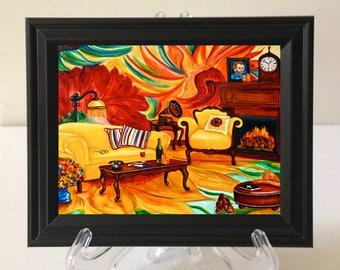 Print, Art Print, van Gogh Print, Vincent van Gogh,  van Gogh Sunflowers Print, Miniature Print, Sunflowers, Home Decor